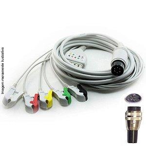 Cabo Paciente 5 Vias Compatível com CMOS DRAKE Tipo Neo Pinch Solda EPX-C512-NS - Vepex