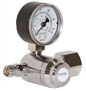 Válvula Para Cilindro C/ 1 manômetro CB CT Oxigênio - Protec