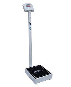 Balança Digital Adulto 200 KG X 100 Gramas S/ Régua LCD + Bateria W 200 / 100 F - Welmy