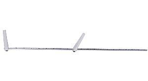 Infantômetro Portátil Horizontal com 1 Metro Alumínio - Welmy