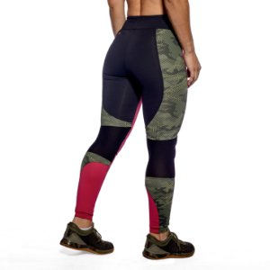 LEGGING HERO - PINK LEMON GREEN CAMO