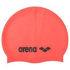 Touca Arena Classic Silicone Laranja Fluorescente Tam Unico