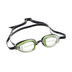 Oculos Michael Phelps K180+ Verde Preto-Lent Transparente