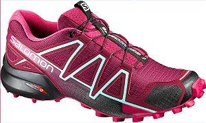 Tenis Speedcross 4 Feminino Vinho 34