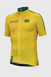 Camisa Masc Brasil Amarela Free Force