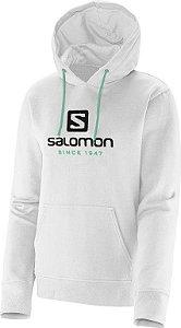 Moleton Logo Hoodie Salomon Branco
