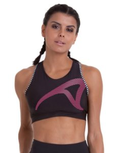 Top Authen Signature Vigor-Preto Maracatu  Rosa