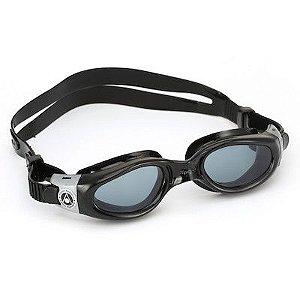 Oculos Aqua Sphere Kaiman Exo Preto Prata lente fume