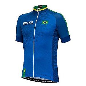Camisa Masc Brasil Azul Free Force Tam P
