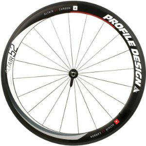 Roda Dianteira Profile Design Clincher 52 Altair Full Carbono
