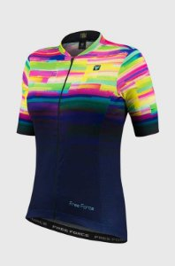 Camisa de Ciclismo Free Force Psicodelic