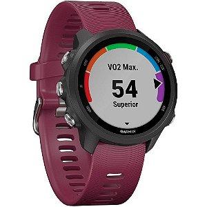 Monitor Cardíaco de Pulso com GPS Garmin Forerunner 245 Berry sem Música