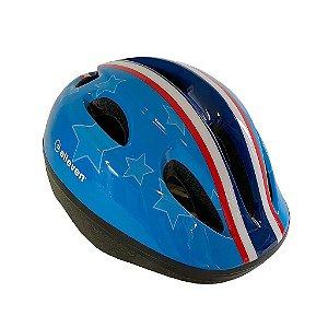 Capacete Infantil Elleven Para Bike Azul Estrela C/ Regulagem