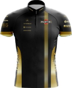 Camisa De Ciclismo Williams F1 Gold