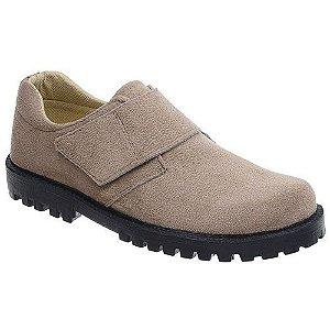 Sapato Camurça Sintético Com Velcro Fearnothi