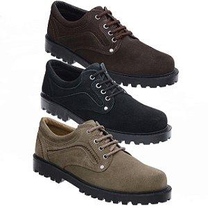 KIT 3 pares de Sapato Casual Camurça Fearnothi