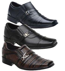 KIT 3 Pares de Sapato social em Couro