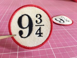 PATCH BORDADO PLATAFORMA 9 3/4 HARRY POTTER TERMOCOLANTE