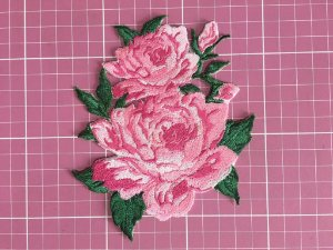 PATCH BORDADO FLORAL ROSAS13 TERMOCOLANTE
