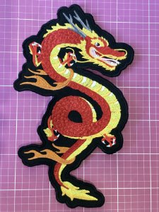 PATCH BORDADO DRAGÃO CHINÊS TERMOCOLANTE
