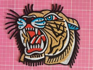 PATCH BORDADO TIGRE TERMOCOLANTE