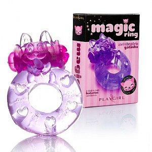Anel peniano com vibrador gatinho - Magic Ring