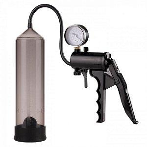 Bomba peniana com gatilho e manômetro - Lust Pumper - Nanma