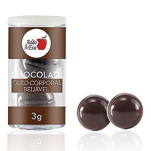 Bolinhas de Óleo Corporal Beijável - Chocolate - 2 un