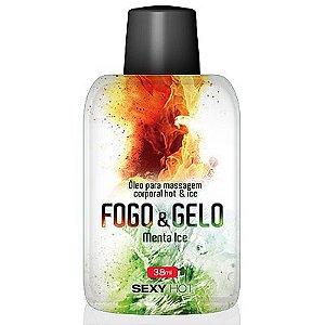 Óleo comestível - Sexo Oral - Fogo e Gelo - Menta Ice - Sexy Hot - 38ml