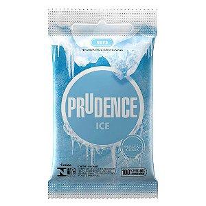 Preservativo Prudence Ice - Sensação Gelada - 3 un