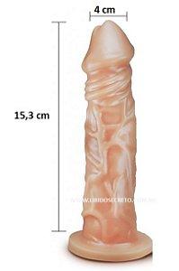 Pênis realístico 77 - Maciço - 16,8 x 4,5 cm