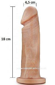 Pênis realístico 74 - Maciço - 18 x 4,5 cm