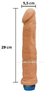 Pênis Super King - Com vibrador e à prova d'água - 29 x 5,5 cm