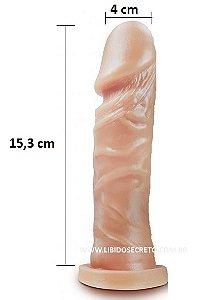 Pênis realístico 76 - Maciço - 15,3 x 4 cm