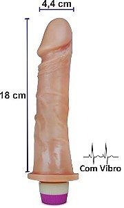 Pênis realístico Luxúria 73 - Com vibrador - 18 x 4,4 cm