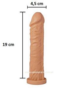 Pênis realístico 16 - Maciço - Veias Saltantes - Pele - 19 x 4,5cm