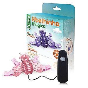 Vibrador Butterfly Mini - Abelha - Rosa - 12 Velocidades