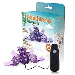 Vibrador Butterfly Mini - Abelha - Roxo - 12 Velocidades