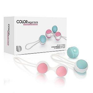 Bolinhas Tailandesas Color Kegel Balls Pompoar Silicone - 30 e 40 g