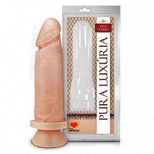 Pênis Realístico - Maciço com Ventosa - PVC - Pele - 16 x 4 cm