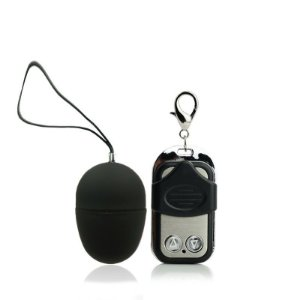 Vibrador Bullet - Egg Aveludado - 10 Velocidades - Sem Fio - Preto
