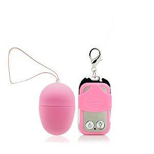Vibrador Bullet - Egg Aveludado - 10 Velocidades - Sem Fio - Rosa