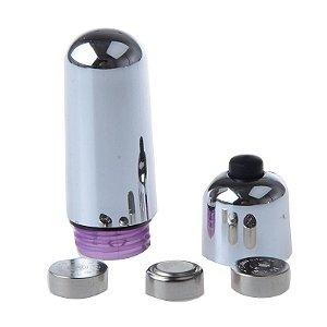 Vibrador Bullet - 10 vibrações - 5 cm - Preto
