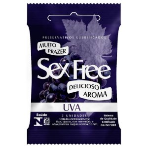 Preservativo Sex Free Aroma Uva 3 Un