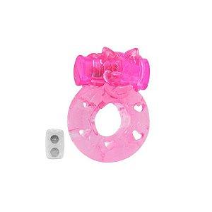 Anel Peniano - Urso - Com Vibrador - Rosa