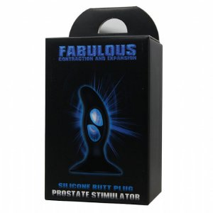 Plug Anal Cone Flexível Fabulous Silicone Preto 9 x 3 cm