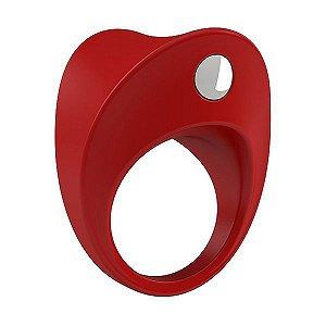 Anel Peniano com Vibrador B11 Ovo Silicone Vermelho