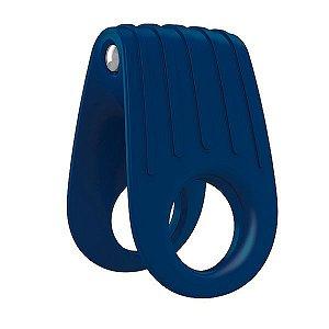 Anel Peniano com Vibrador B12 Ovo Silicone Azul