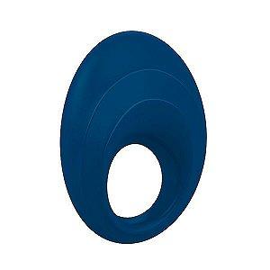 Anel Peniano com Vibrador B5 Ovo Silicone Azul