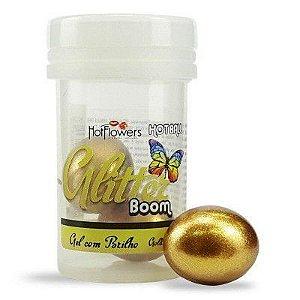 Bolinha Lubrificante com Glitter Dourado Comestível - Sabor Petit Gateau